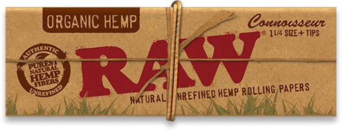 RAW Organic Hemp Connoisseur 1¼ gotblunt